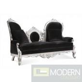 Eloisa Velvet Baroque Chaise Sofa