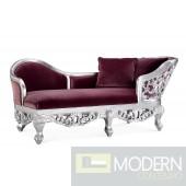 Elnora Velvet Baroque Chaise Sofa
