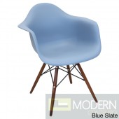 Neo Flair Arm Chair Blue Slate with Espresso Wooden Legs