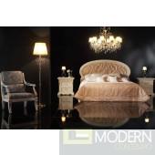 Novita Conformi Oval Headboard Bed in Ivory Pink