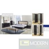 Alba - Modern Dark Walnut Bed