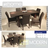 Arabella - Modern Extendable Wenge Dining Table w/ Chairs