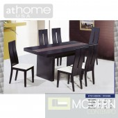 Marquesa - Modern Extendable Wenge Dining Table w/ Chairs