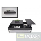 Modrest P209A - Modern Black Coffee Table