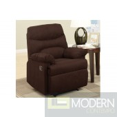 Smooth Chocolate Microfiber Recliner MCGSL7055 free 24 to 72hrs Delivery in DMV area
