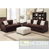 2Pc Chocolate Microsuede Sofa and LoveSeat set  MCGSL7980 Free 24 to 72 hours inside delivery in DMV Area