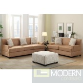 2Pc Tan Microsuede Sofa and LoveSeat set  MCGSL7980 Free 24 to 72 hours inside delivery in DMV Area