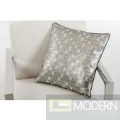 Modrest Palladium Silver Throw Pillow