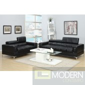 2Pc Black Bonded Leather  sofa + loveseat set  MCGSL7540 Free 24 to 72 hours inside delivery in DMV Area