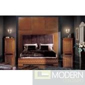 Phedra Walnut Bed with Headboard & Footboard