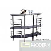 Pierre - Modern Black Glass Bar