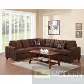Chocolate Microfiber sectional MCGSL7627. Free 24 to 72 hours inside delivery