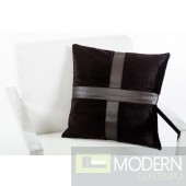 Modrest Prato Black Throw Pillow