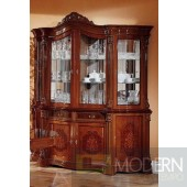 Regina Traditional Walnut 4-Door China Cabinet