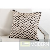 Modrest Ribbon Black and White Throw Pillow