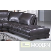Richmond Modern Espresso Leather Sectional Sofa #3927