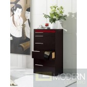 Modrest Rimini Contemporary Wenge Chest