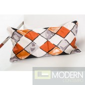 Modrest Roche Orange Throw Pillow