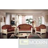 Rossella Italian Classic Fabric Sofa Set