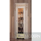 San Marco One Door Dining Display Case - White