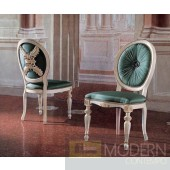 San Marco High Detail Side Chair in Turquoise