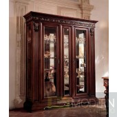 San Marco Dark Walnut Large Dining Display Cabinet