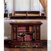 San Marco Dark Walnut Console Table/Bookcase