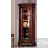 San Marco Dark Walnut One Door Dining Display Cabinet