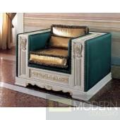 San Marco Green/White/Gold Armchair