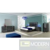 Sarah Grey Ash Bed - Made in Italy