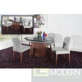 Modrest Swing - Modern Grey Walnut Veneer Dining Table