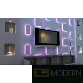 LED LIT  3D PANEL A6  SQUARE 2