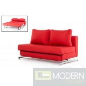 Divani Casa Sepulveda Modern Red Fabric Sofa Bed