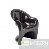Shape Arm Chair, Black