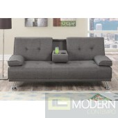 Slate Grey Linen Adjustable Sofa/Futon MCGSL7844 Free 24 to 72 hours inside delivery DC,MD,VA