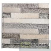 Modrest Stripes Modern Leather Large Area Rug