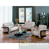 Divani Casa Sydney - Modern Bonded Leather Sofa Set