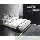 Sylvia Contemporary Leatherette Bed