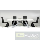 Modrest Vanguard - Modern White and Grey Dining Table