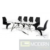 Modrest Labyrinth - Modern Glass Dining Table