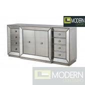 Loiret Credenza mirrored sideboard