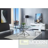 Xander Modern Square Glass Dining Table