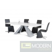Modrest Norton - Modern Rectangular White High Gloss Dining Table