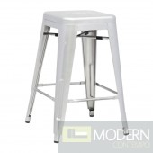 Talix Counter Stool, Silver