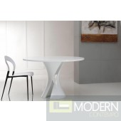 Modrest Curl - Modern White Lacquer Round Dining Table