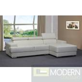 Titania Leather Sectional Sofa