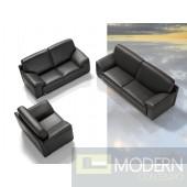 Dima Tonga Modern Italian Full Leather Sofa Set