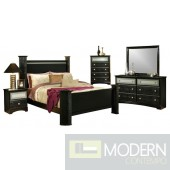 4Pc Modern Black Crocodile Faux Leather Bedroom Set MCGSB35212. Free Inside Delivery for DMV metro area.