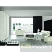 SMA Trendy White Ash Bed - Made in Italy