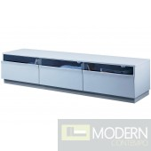 Modrest Bluestone Modern Grey Gloss TV Stand
